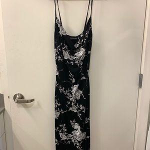 Cowl neck style midi dress